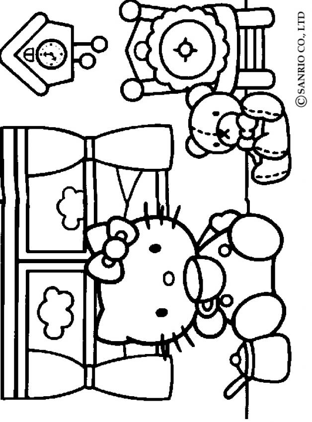 coloriage hello kitty imprimer hello kitty