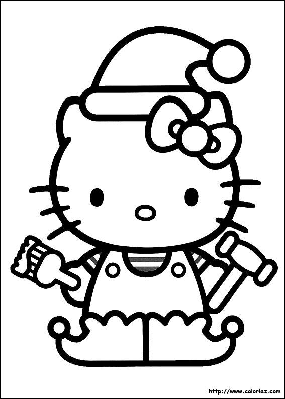 coloriage hello kitty joyeux anniversaire