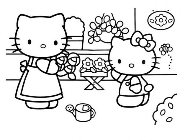 imprimer coloriage hello kitty