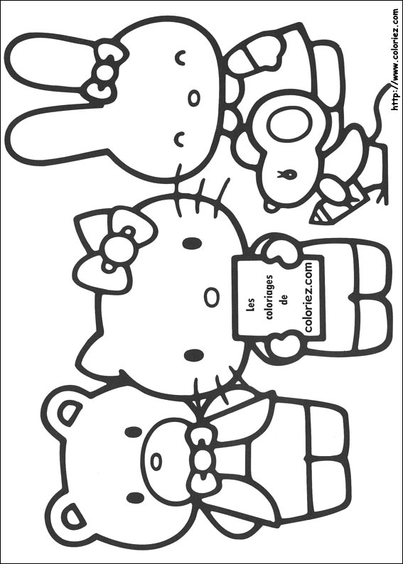 kit coloriage hello kitty