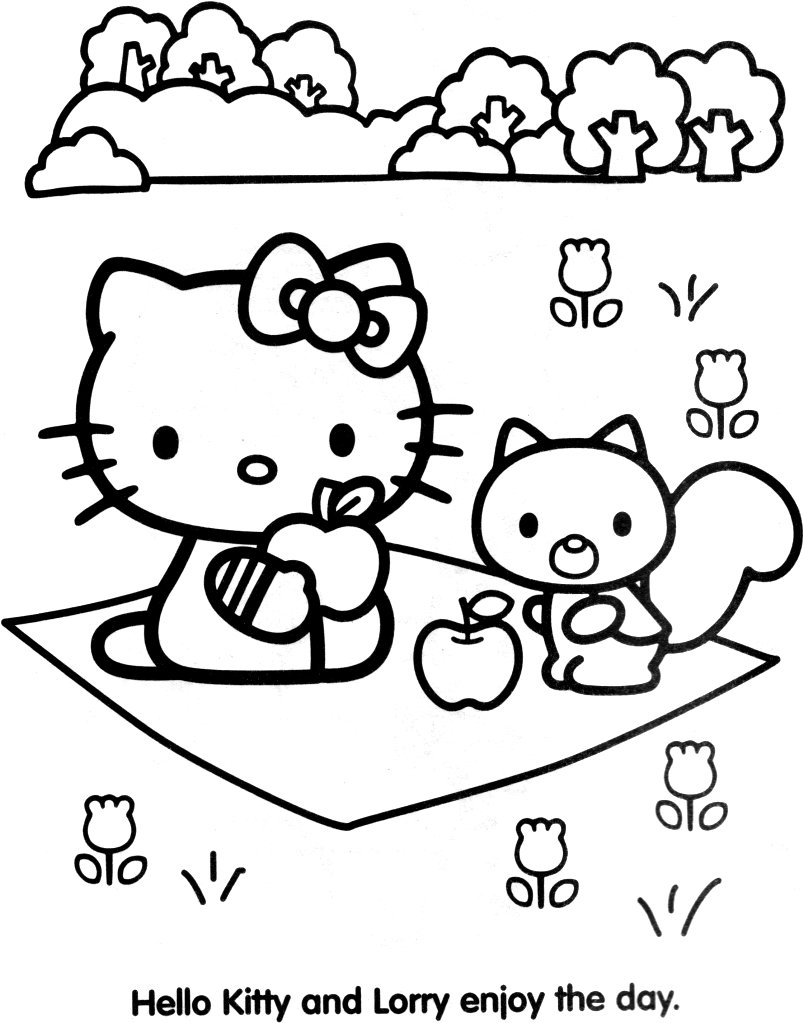 coloriage hello kitty halloween imprimer