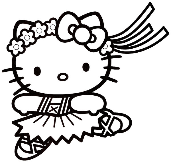 coloriage hello kitty à imprimer noel