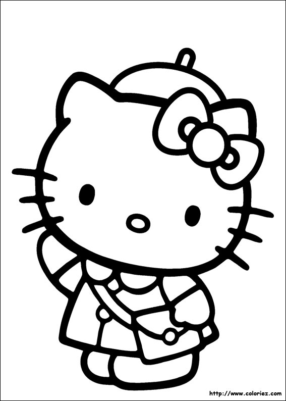 coloriage à imprimer hello kitty