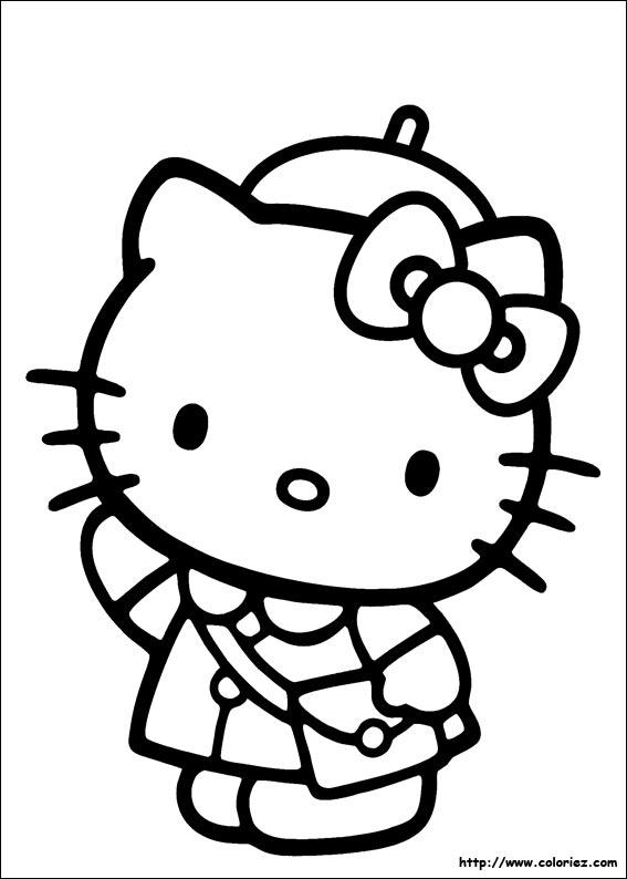 coloriage à imprimer hello kitty