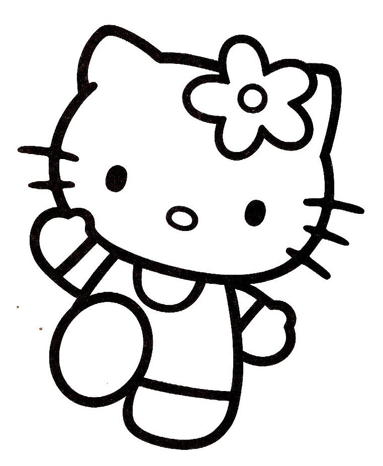 coloriage hello kitty qui danse