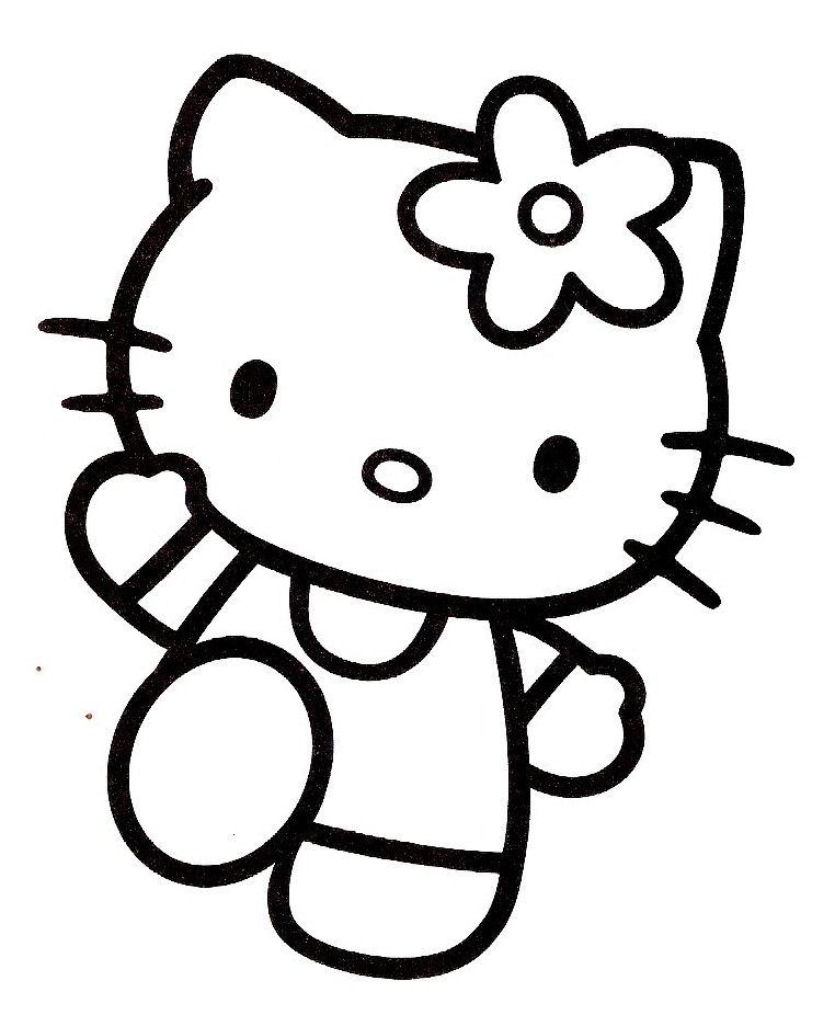 coloriage hello kitty qui danse