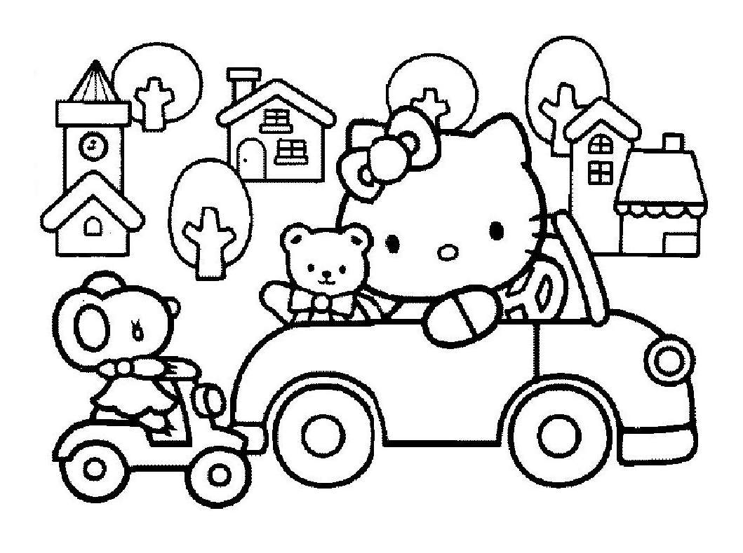 coloriage gratuit hello kitty noel