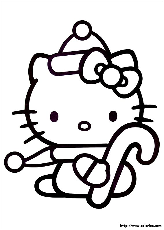 coloriage hello kitty jardin