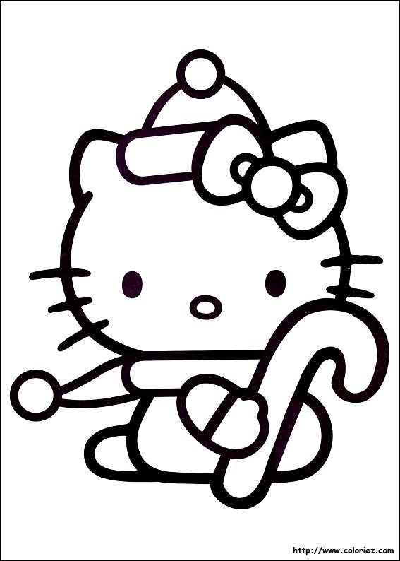 coloriage hello kitty jardin