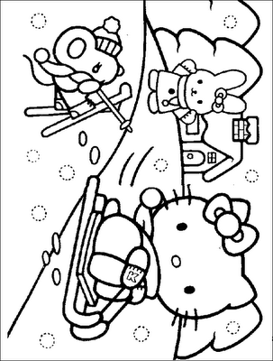 jeu et coloriage hello kitty