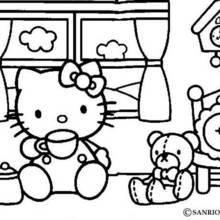 faire un coloriage hello kitty