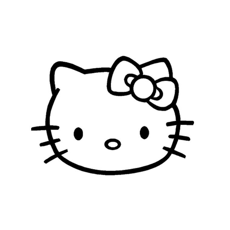 Coloriage hello kitty tete de mort - Coloriage tete hello kitty a imprimer ...