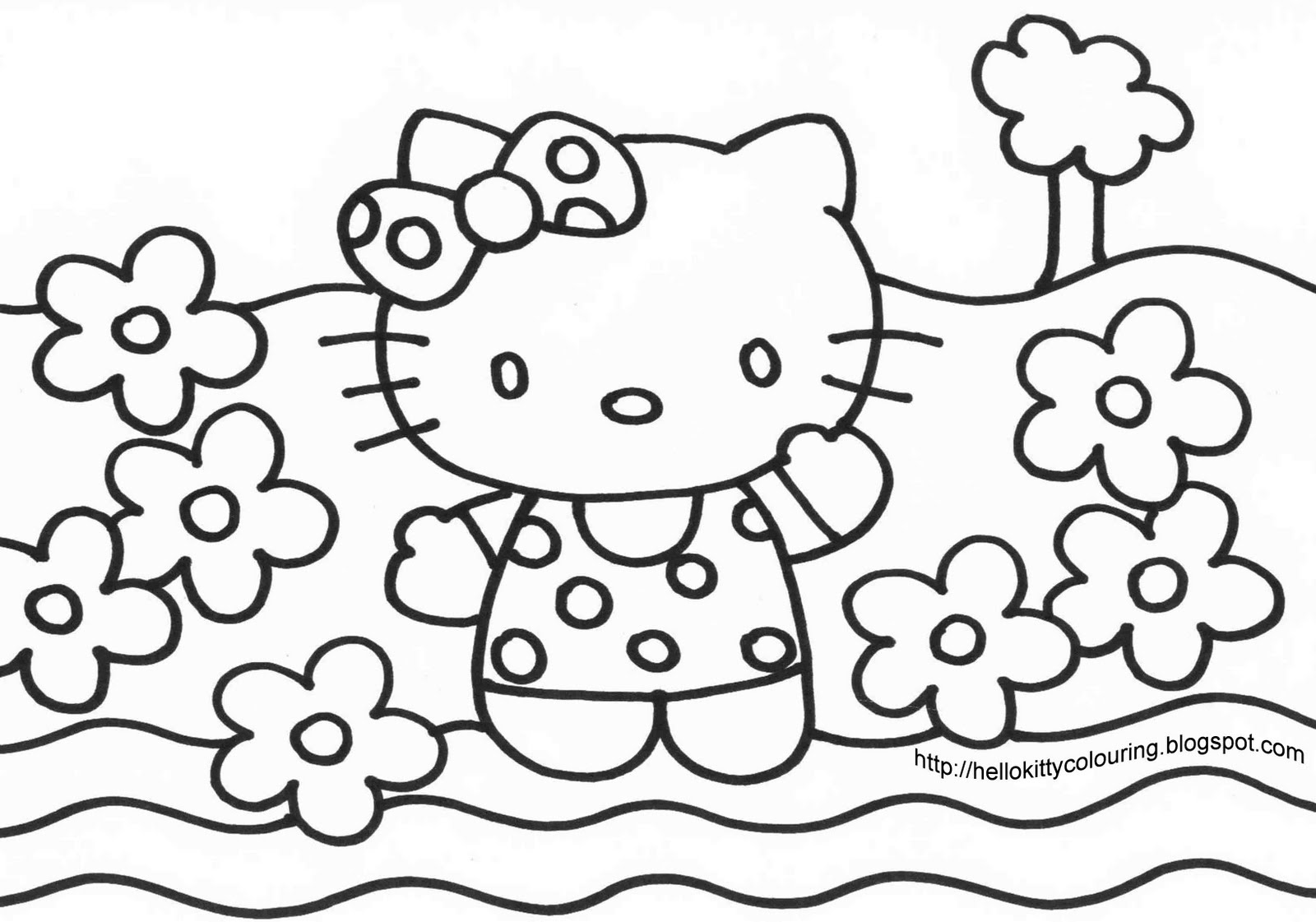Tout les coloriage hello kitty a imprimer gratuit - Coloriage hello kitty a colorier ...