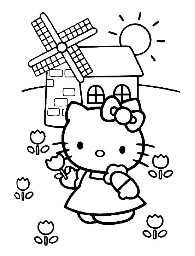 recherche coloriage hello kitty