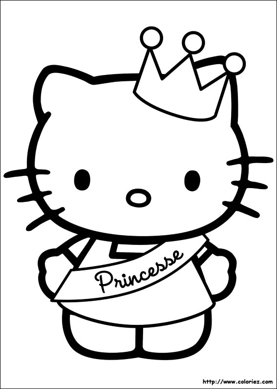 coloriage hello kitty 2 ans