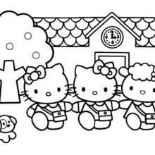 coloriage hello kitty la princesse