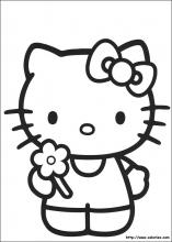 coloriage 4 ans hello kitty