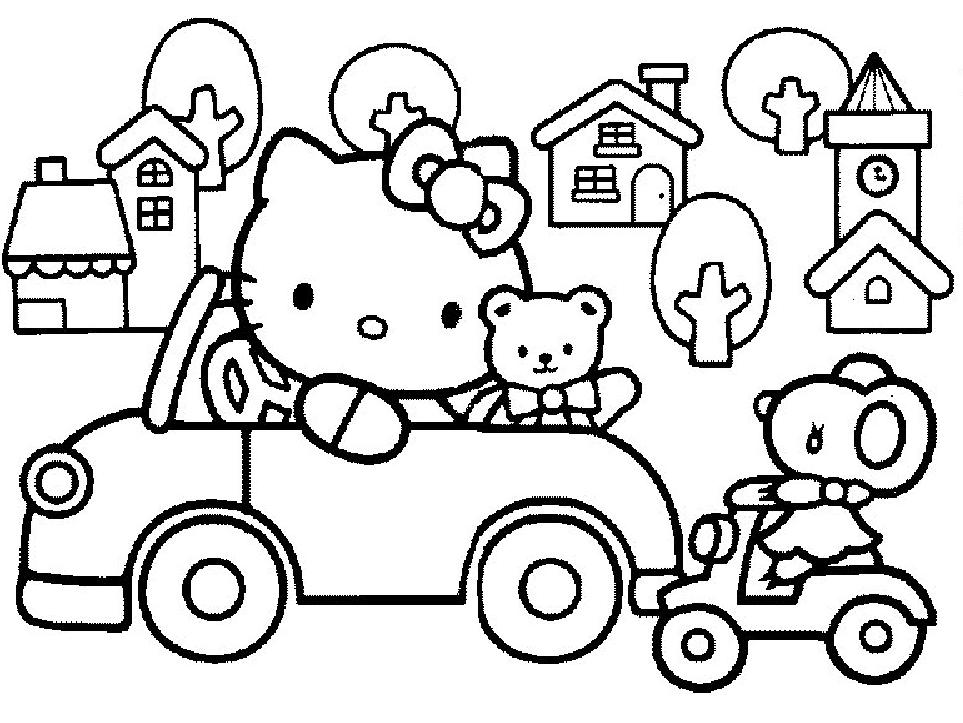 coloriage hello kitty sur ordinateur gratuit