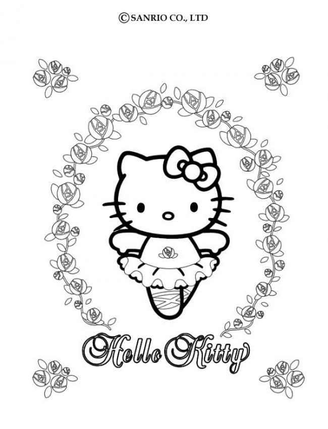 coloriage hello kitty en princesse