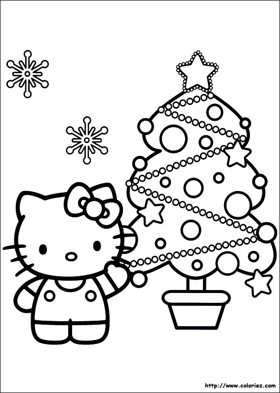 coloriage hello kitty a colorier sur ordinateur