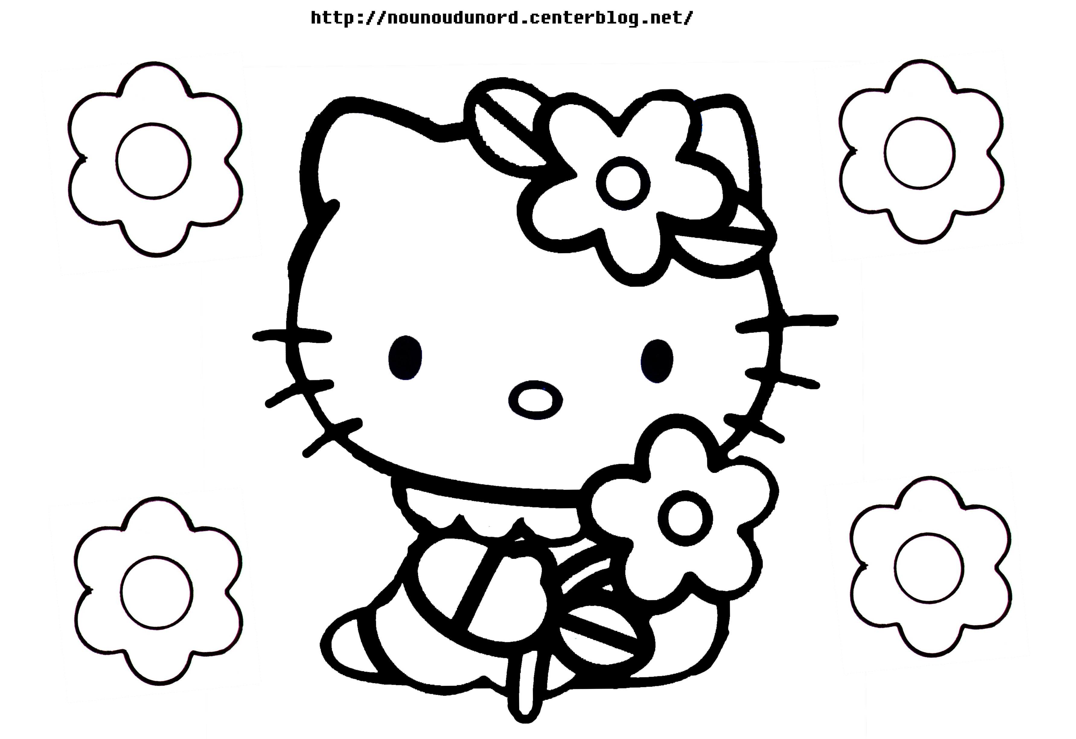 140 dessins de coloriage hello kitty imprimer. Black Bedroom Furniture Sets. Home Design Ideas