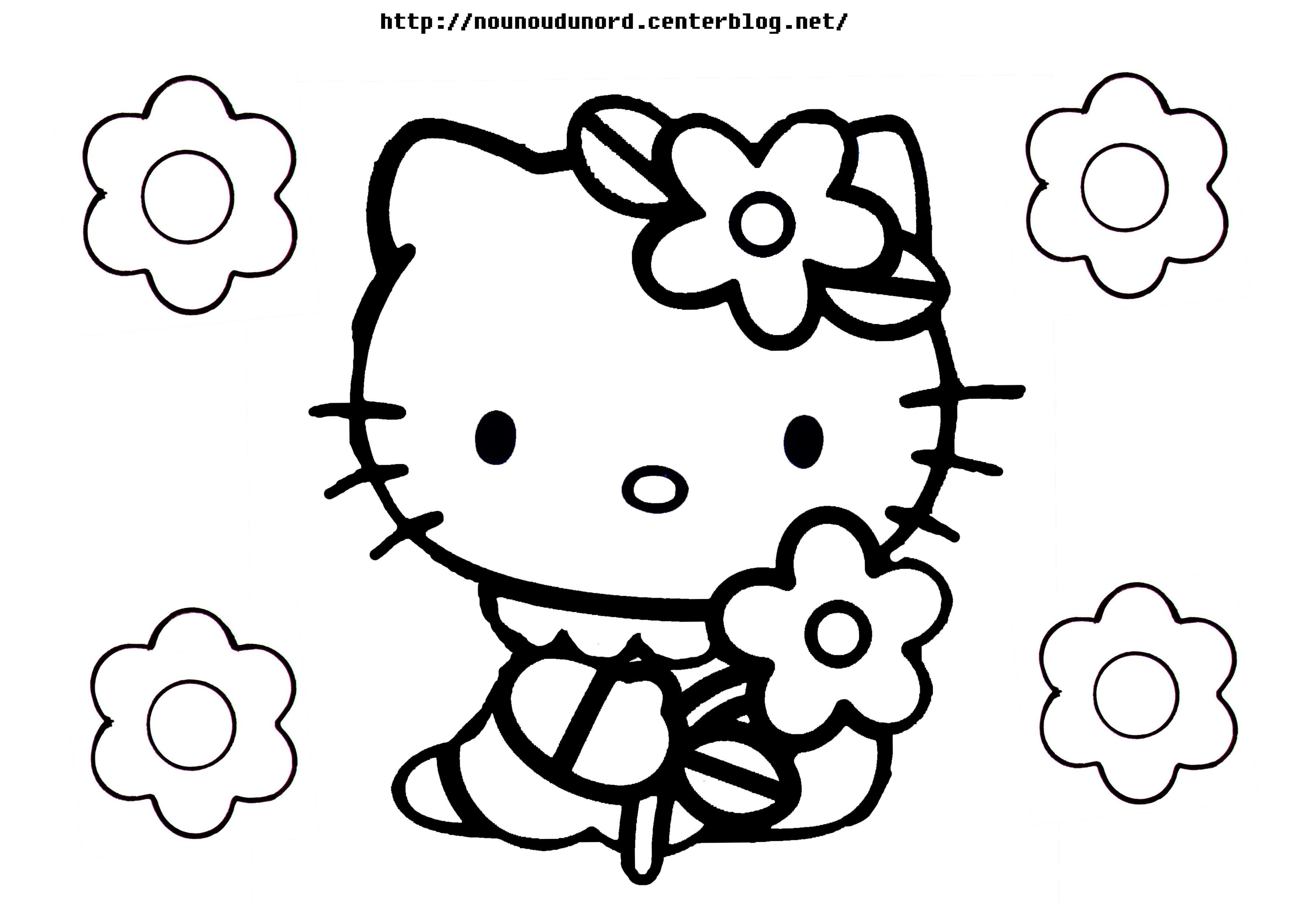 coloriage hello kitty noel imprimer gratuit