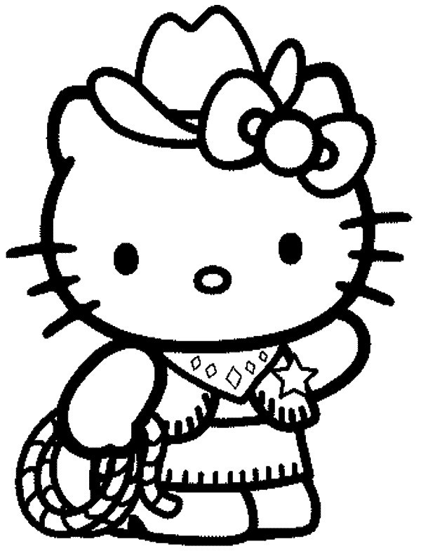 143 dessins de coloriage hello kitty imprimer - Coloriage hello kitty ...