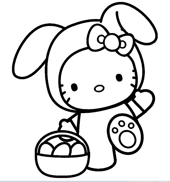 coloriage a imprimer hello kitty au zoo