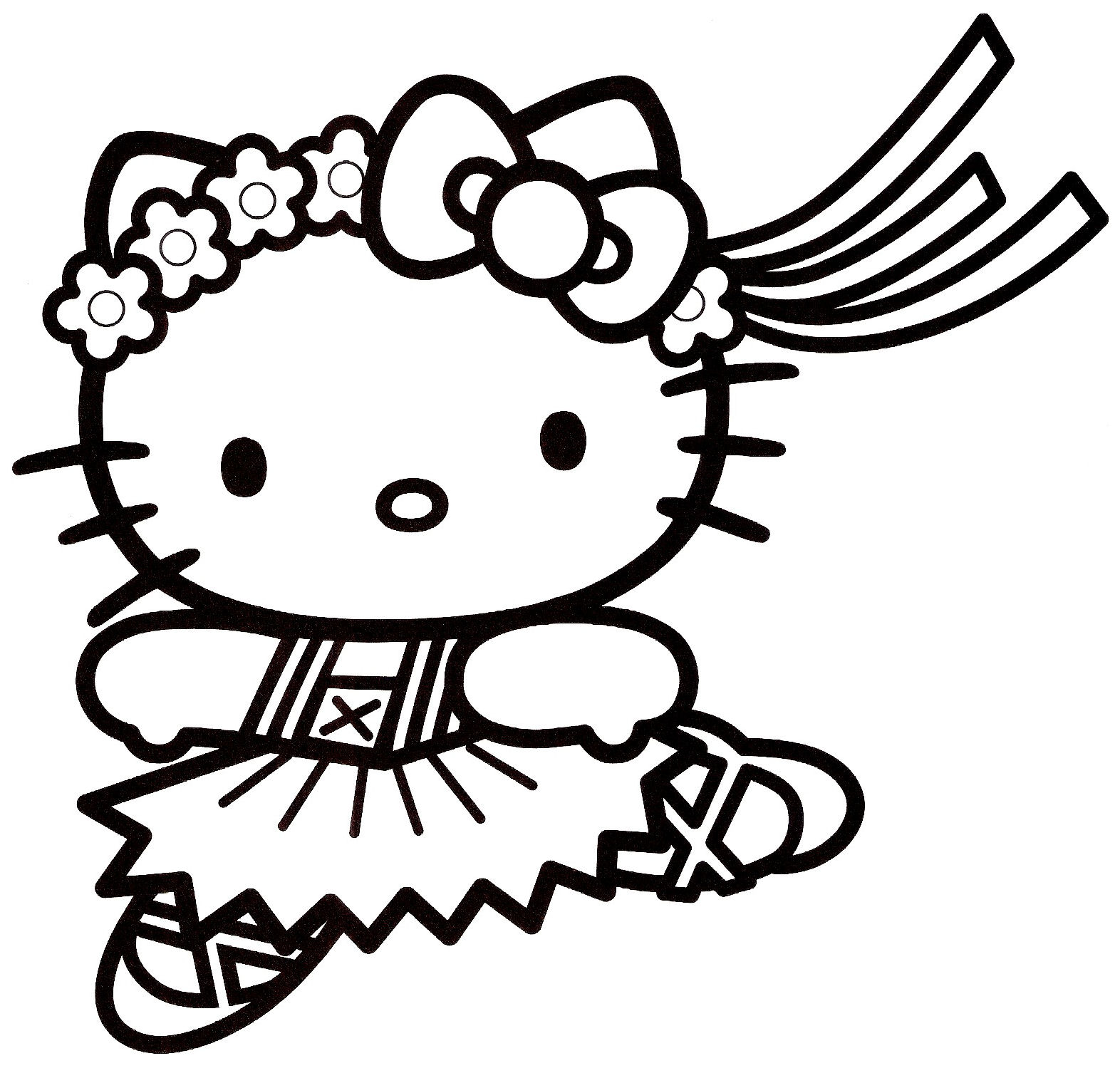 coloriage hello kitty bebe a imprimer