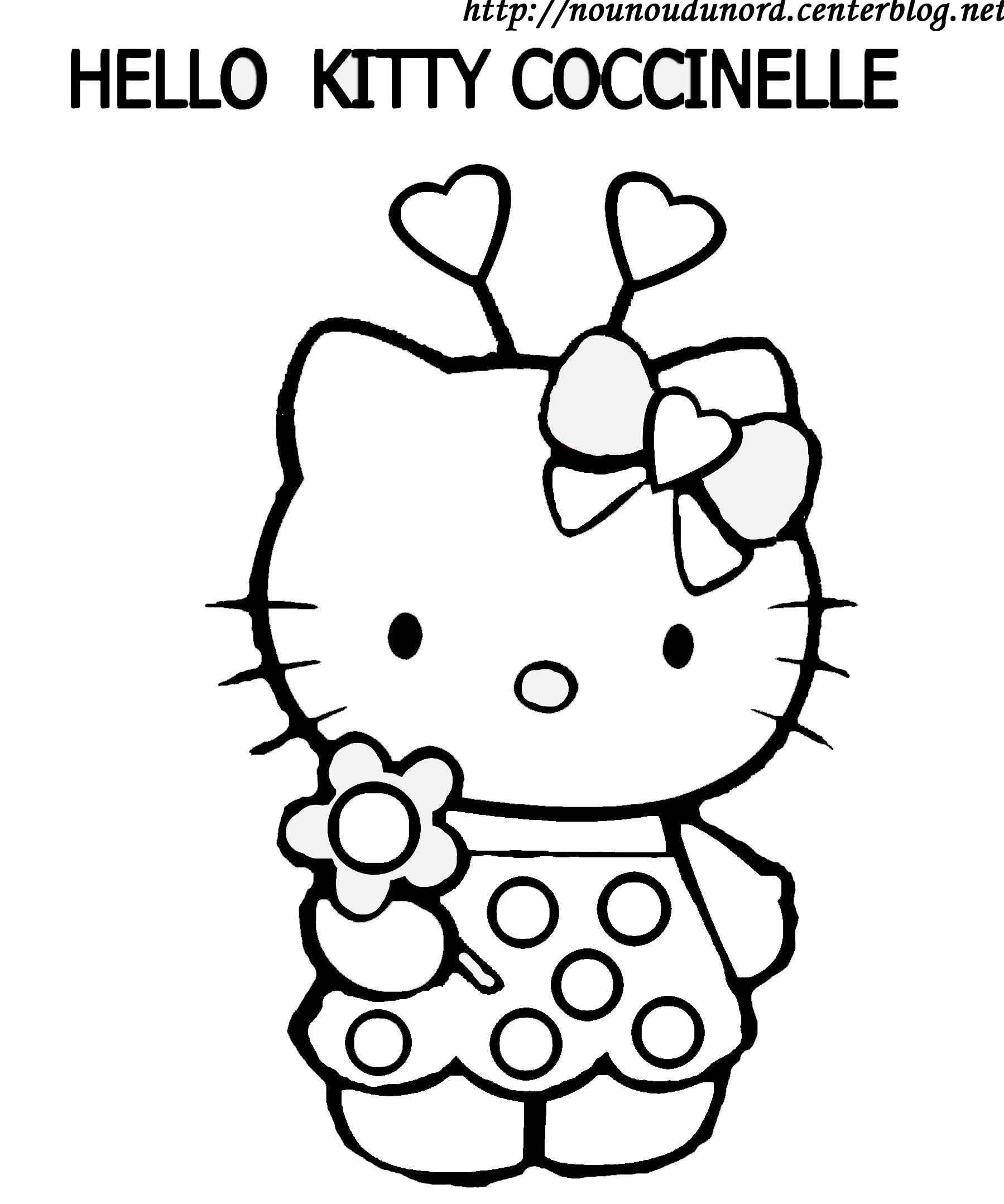 coloriage hello kitty tv