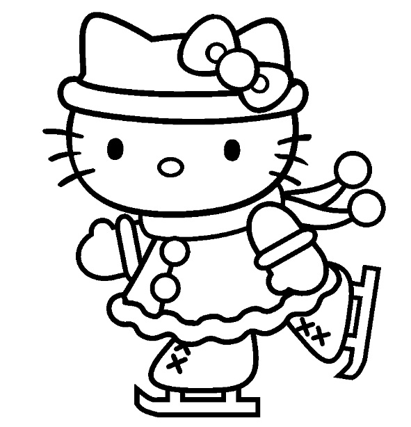 coloriage hello kitty rock