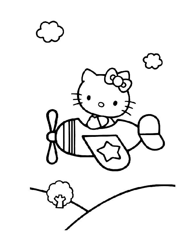 coloriage de hello kitty