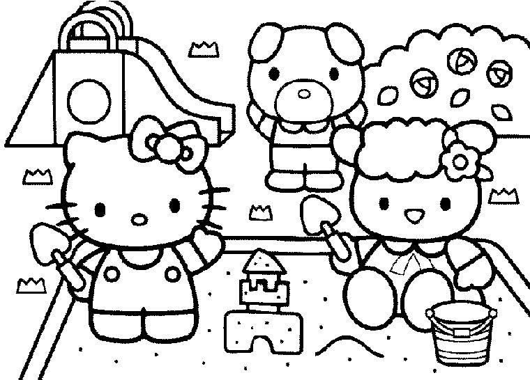 coloriage hello kitty et dora