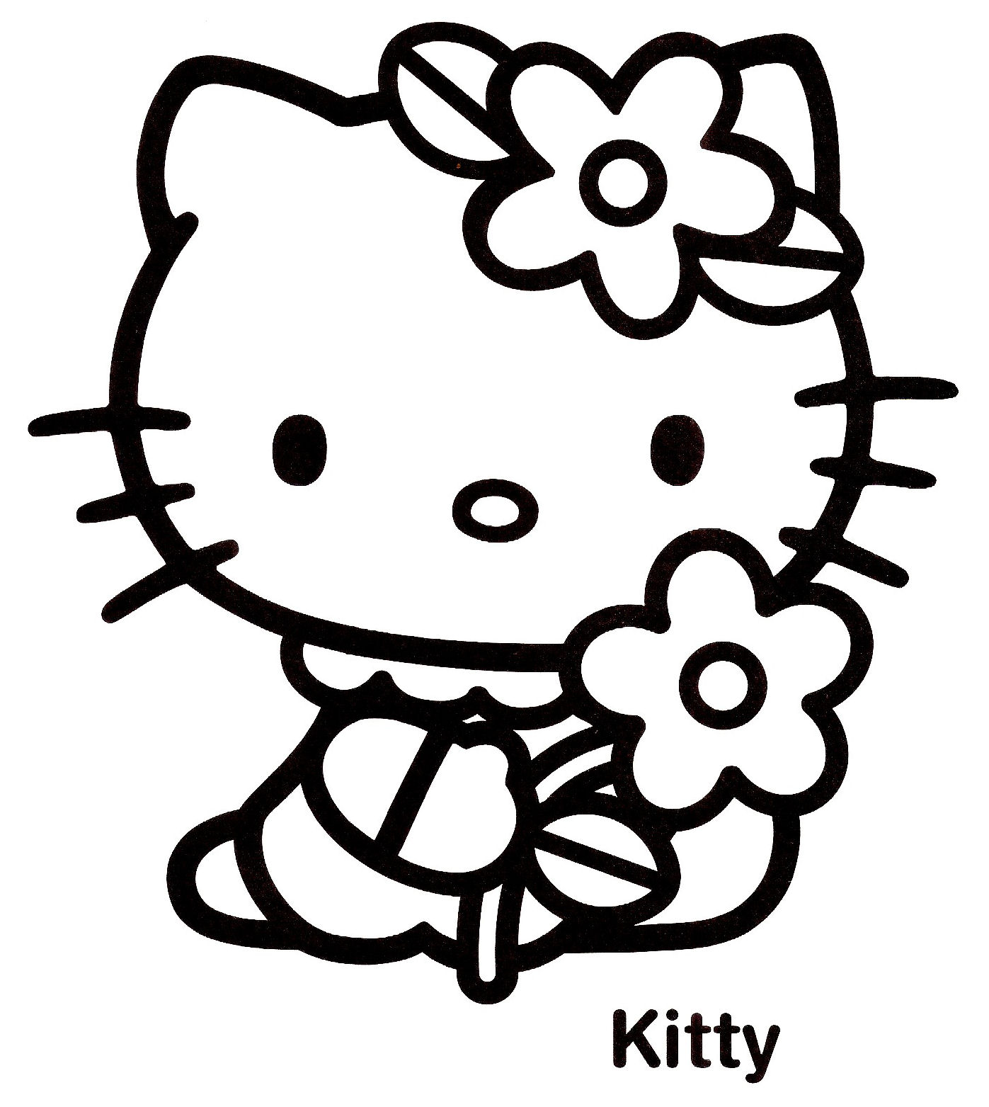 coloriage gratuit hello kitty