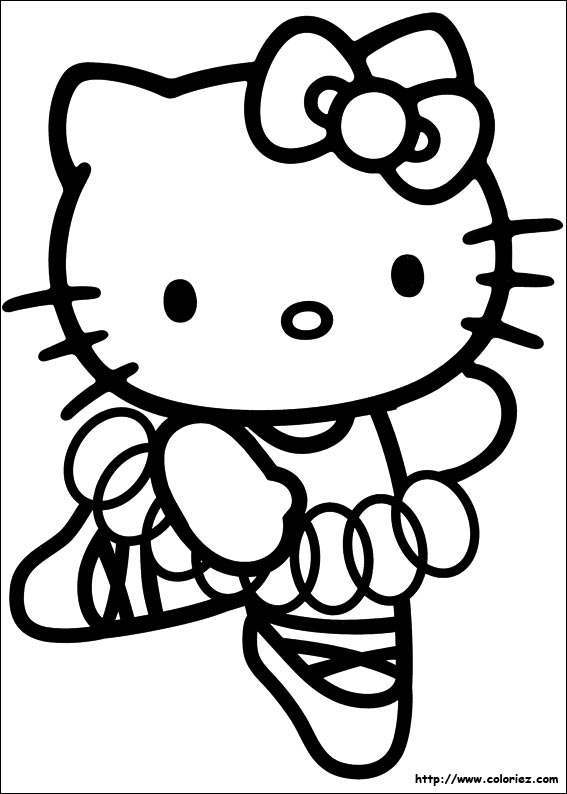dessin 0 colorier hello kitty