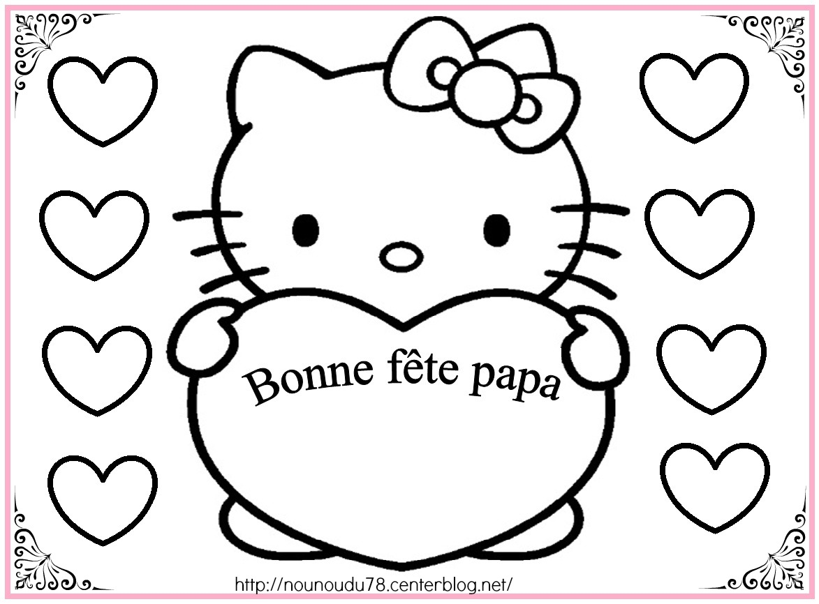 coloriage hello kitty en vacances