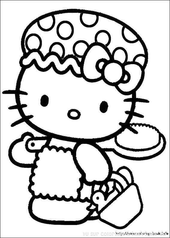 coloriage hello kitty malade