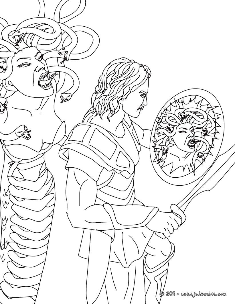 19 dessins de coloriage hercule mythologie imprimer - Dessin mythologie ...