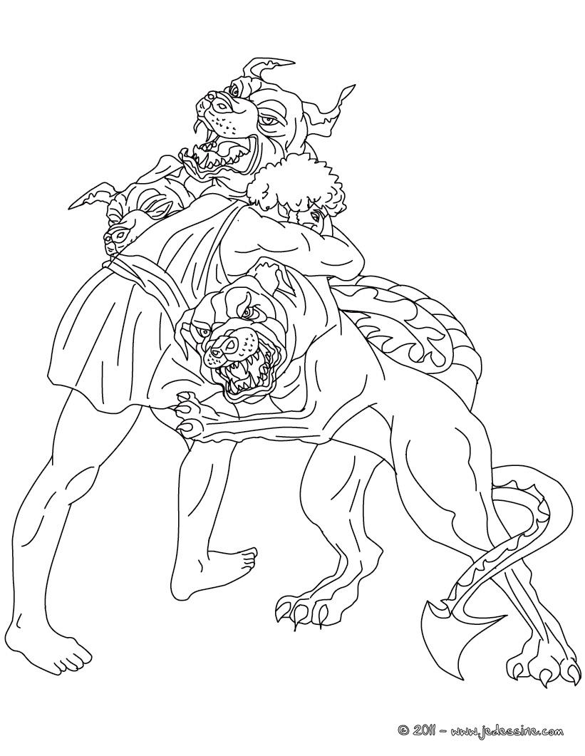 19 dessins de coloriage Hercule Mythologie à imprimer