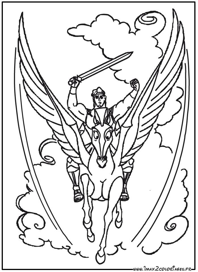 dessin à colorier hercule disney