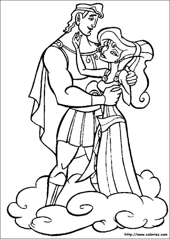coloriage à dessiner hercule walt disney