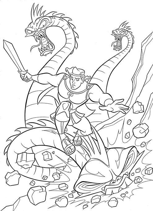 dessin � colorier hercule mythologie
