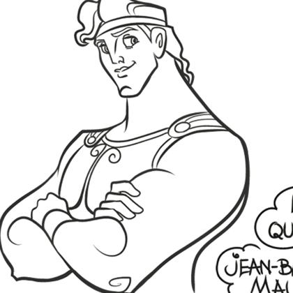 dessin � colorier pif et hercule