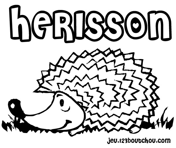 colorier un herisson
