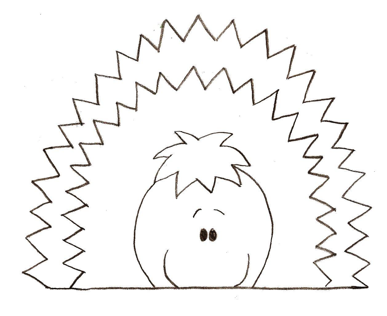 dessin hérisson dessin à colorier