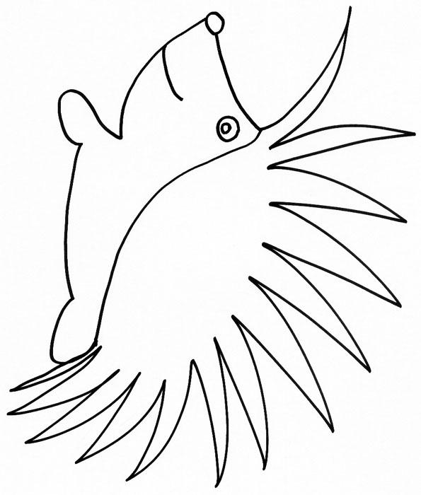dessin à colorier hérisson