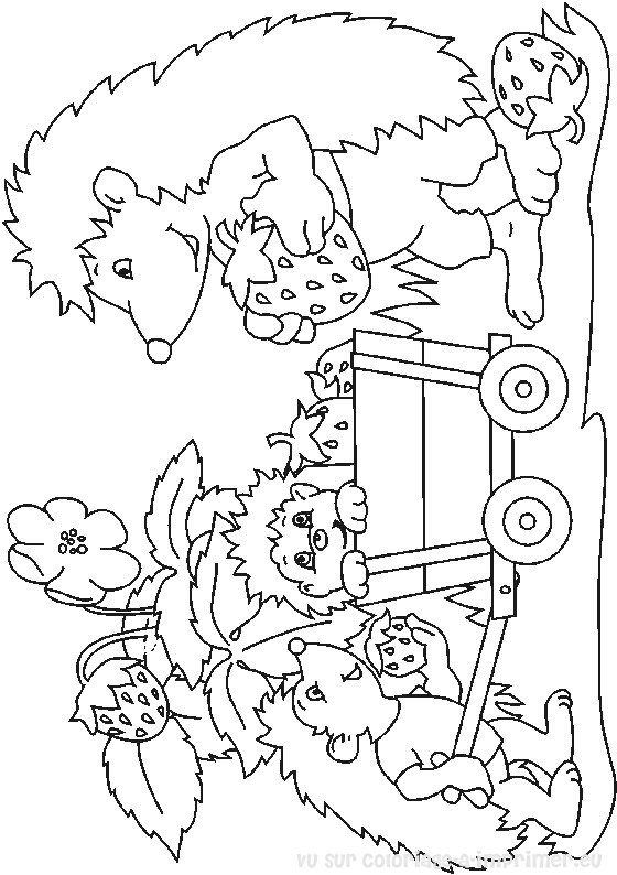 coloriage à dessiner codé hérisson