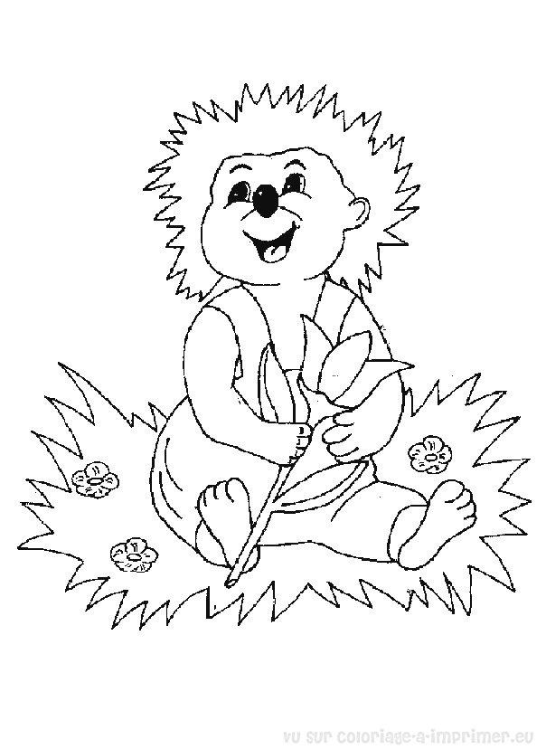 dessin le noel du hérisson