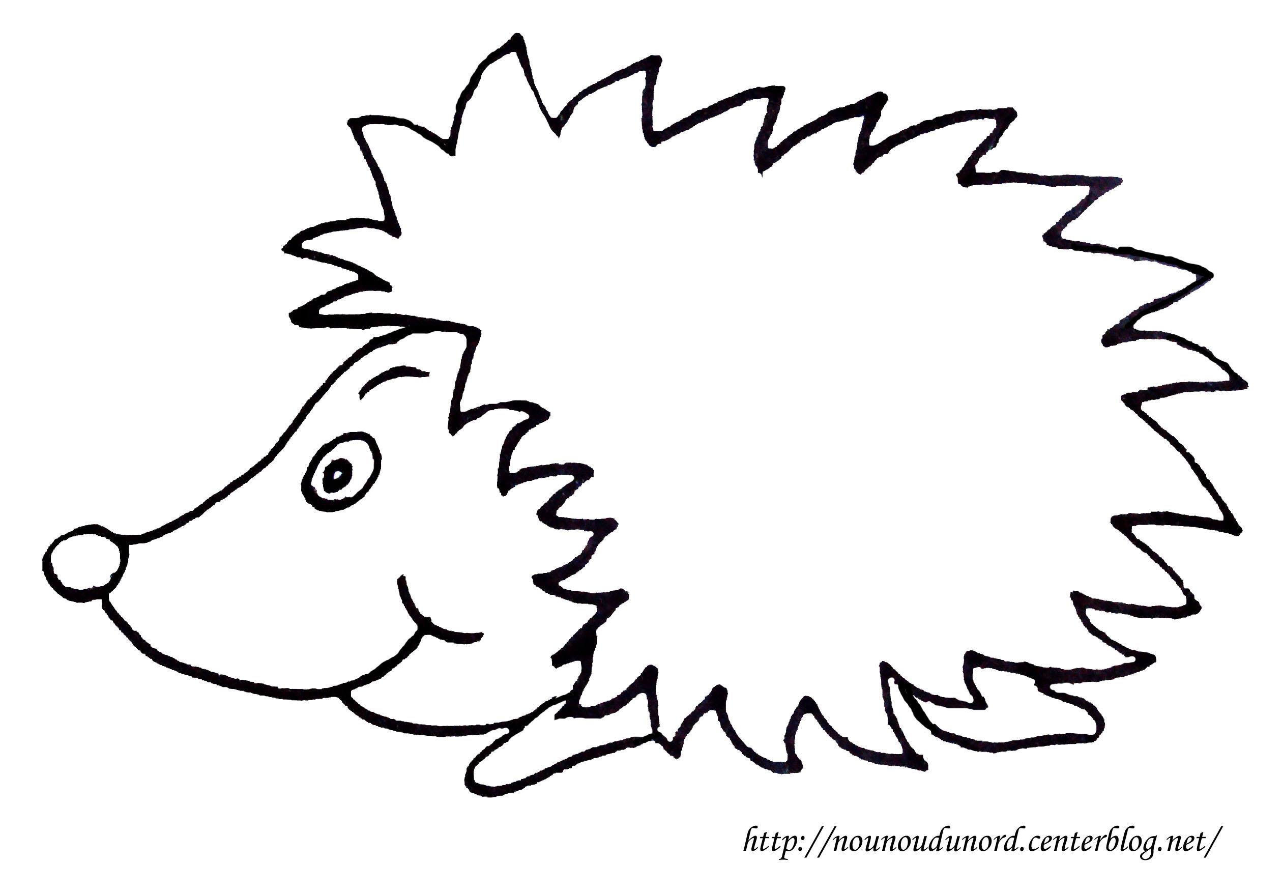 coloriage à dessiner herisson gratuit