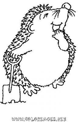 dessin à colorier hérisson hugo l'escargot